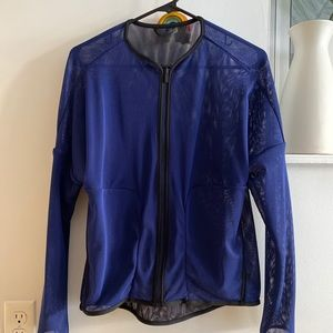 lululemon lab reversible blue black jacket mesh S